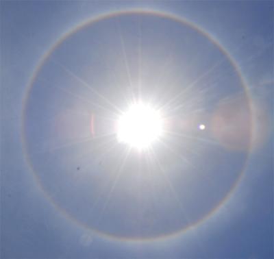 Ph nom ne optique un halo observ autour du soleil le mauricien - Saint de glace 2018 ...